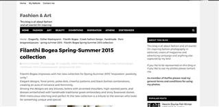 Filanthi Bogea Spring-Summer 2015 collection